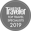 Condé Nast Top Travel Specialist Award 2019