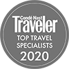 Condé Nast Top Travel Specialist Award 2020