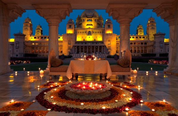NORTH INDIA - Umaid Bhawan Candlelit Feast