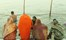 Allahabad North India Kumbh Mela India Women About To Take A Dip
