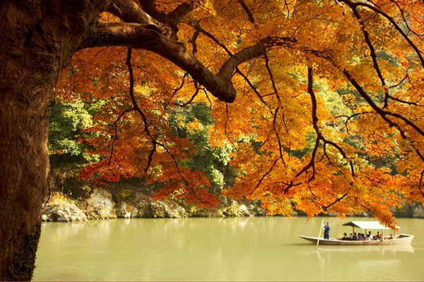 JAPAN The Hoshinoya In Arashiyama Outside Kyoto Is An Exclusive Tranquil Retreat Reached By Boat Up The Hozu River