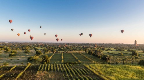 Private tour of Burma including 'Balloons Over Bagan'