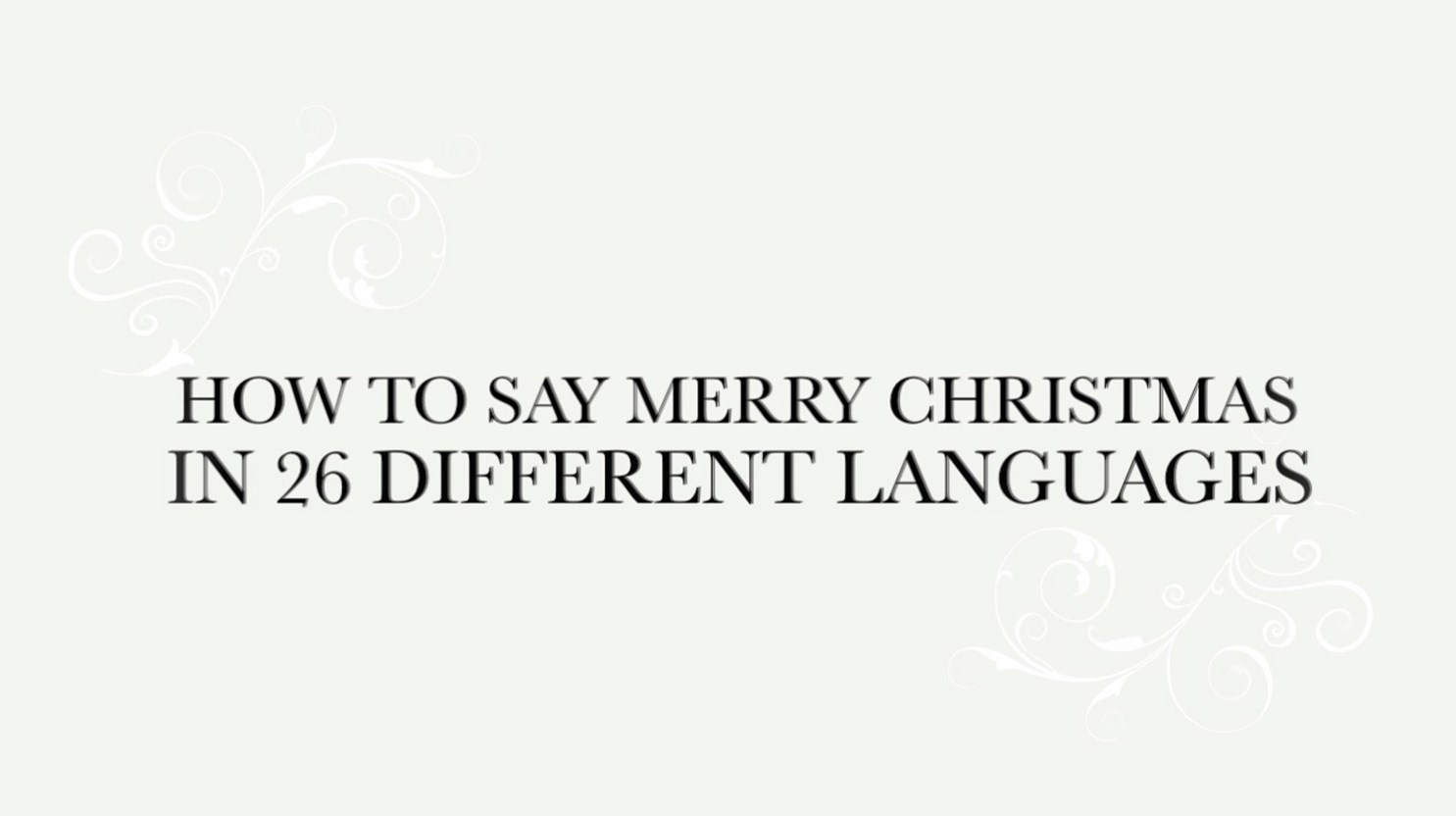 merry christmas - How To Say Merry Christmas